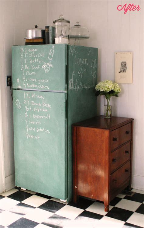 chalkboard paint in fridge keep smiling chalkboard fridge kitchen ceiling progress