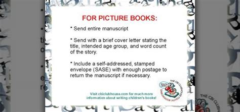 picture book submissions how to submit a children s book manuscript to publishers