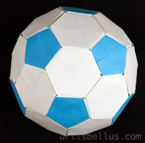 how to make a origami soccer origami modular soccer origami artis bellus