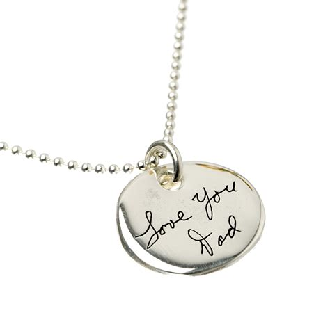 Aj S Collection Personalized Jewelry Custom Handwriting