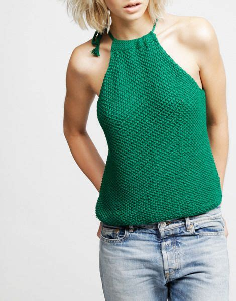 Easy Knit Kit Emerald Halter Top De Punto
