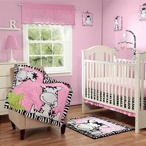 zebra crib bedding sets baby boom i zebra 3pc crib bedding set pink walmart