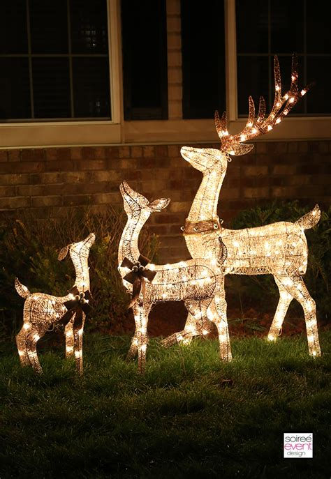 reindeer outdoor lights decorate your home with outdoor decor from big