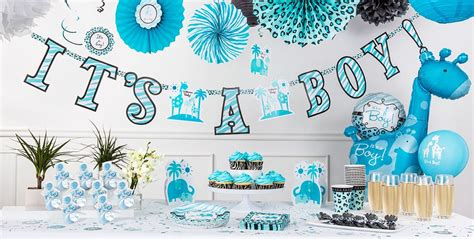 Safari Blue Baby Shower City by Blue Safari Baby Shower Decorations City