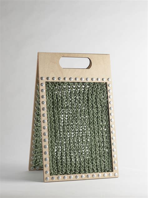 cutting knitting knitted wooden bags anat uziely