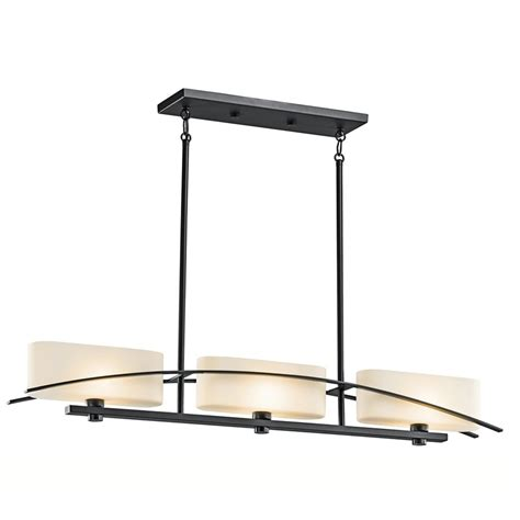 black kitchen lighting shop kichler suspension 41 in w 3 light black kitchen