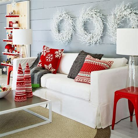 Country Dining Room Ideas red and white scandinavian christmas town amp country living