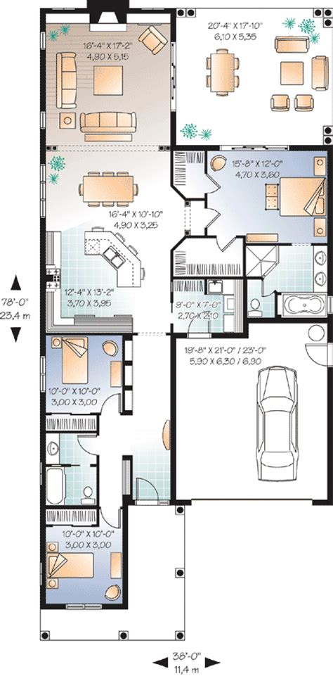 floor plans for narrow lots narrow lot florida house plan 21650dr 1st floor master suite cad available canadian