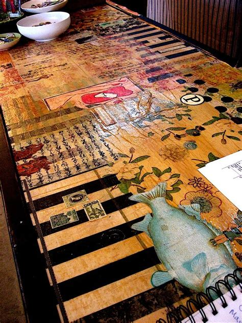 decoupage tabletop ideas best 25 decoupage table ideas on