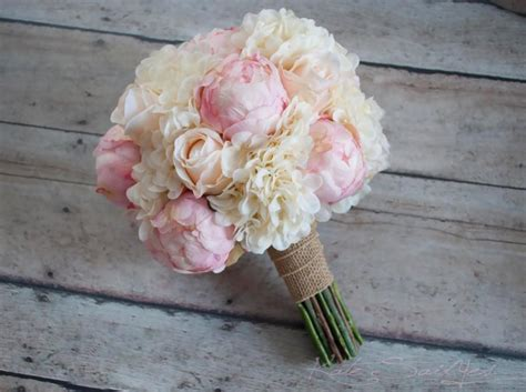 shabby chic bouquet shabby chic wedding bouquet peony and hydrangea