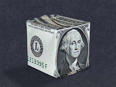 money origami cube money origami cube dollar bill