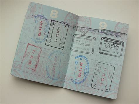 picture of a passport book passport pages for passport books