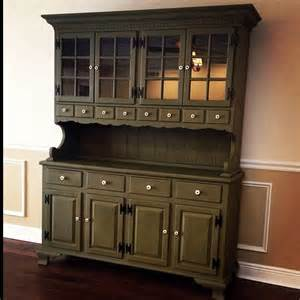 chalk paint hutch hutch painted with sloan chalk paint in olive our