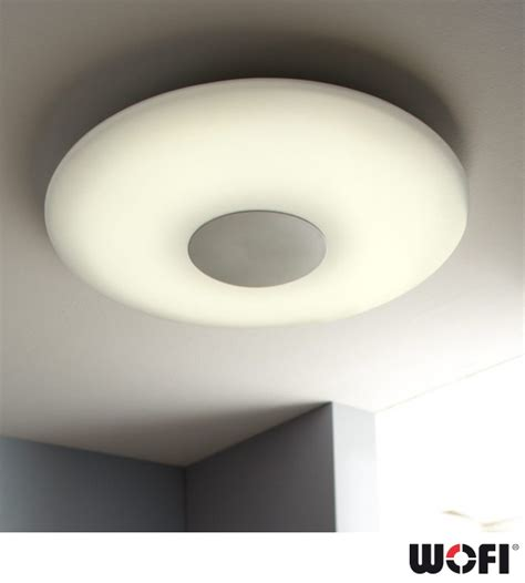 remote ceiling lights wofi sila led 1 light 60cm diameter dimmable remote