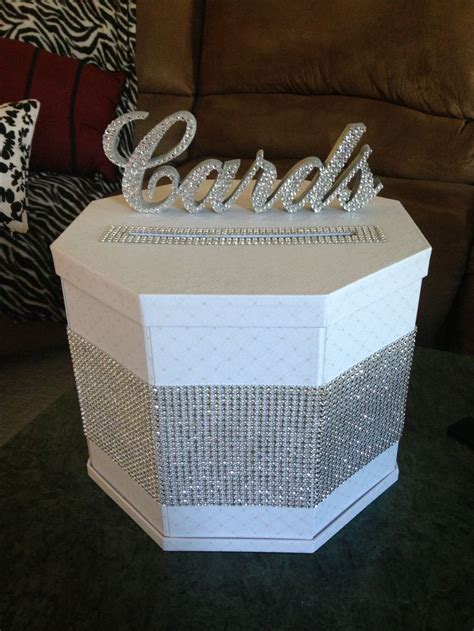 how to make gift card boxes for weddings diy blinged out gift card box our winter wedding