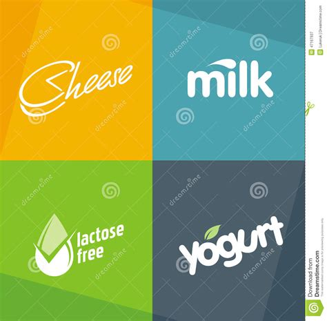 dairy products logo designs templates stock photo image