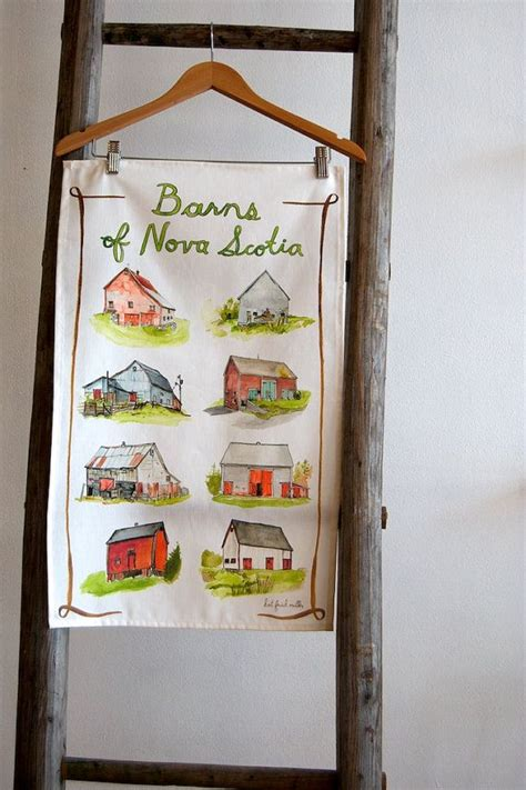 chalk paint scotia barns of scotia tea towel by katfrickmiller on etsy