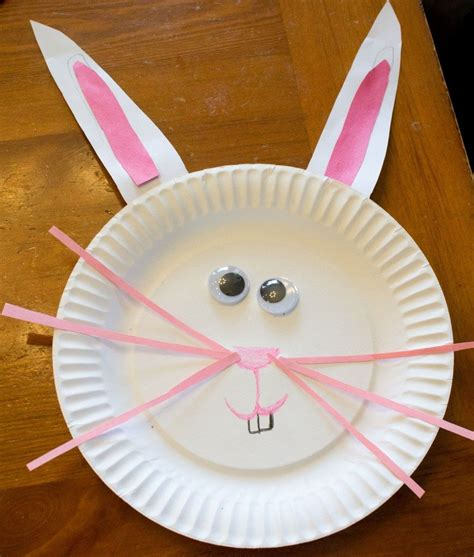 easter bunny paper plate craft paper plate easter bunny craft great for toddlers and