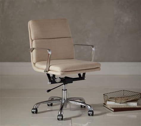 upholstered desk chairs swivel nash upholstered swivel desk chair pottery barn