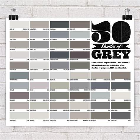 shades of grey colors 50 shades of grey poster