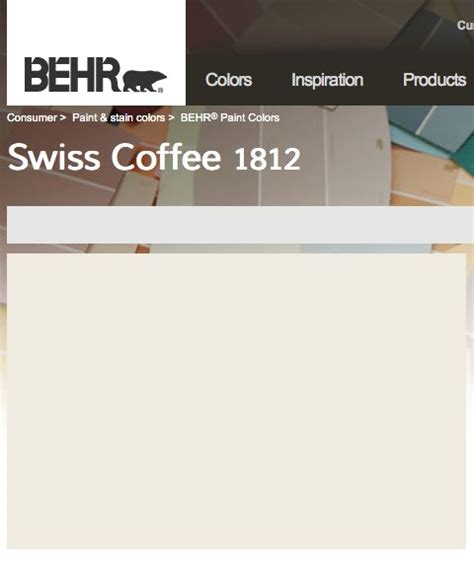behr paint colors interior swiss coffee behr swiss coffee nursery house color palette