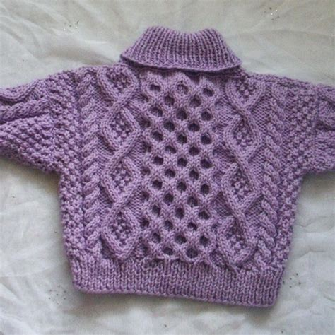 toddler sweaters to knit aisling cable sweater for baby or toddler pdf knitting