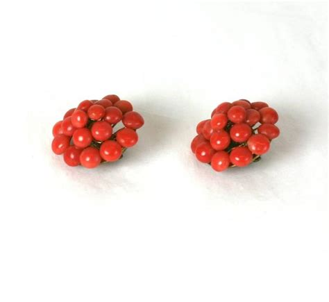 antique coral antique coral button earrings for sale at 1stdibs
