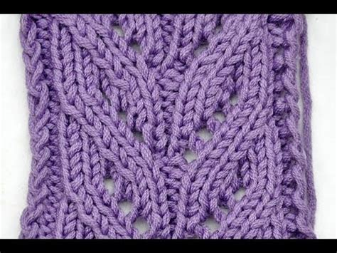 how to knit lace how to knit lace stitch leaves rib knitting stitch