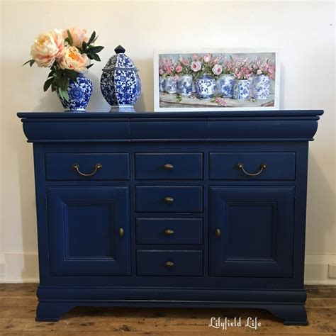 chalkboard paint navy blue lilyfield navy chalk painted buffet