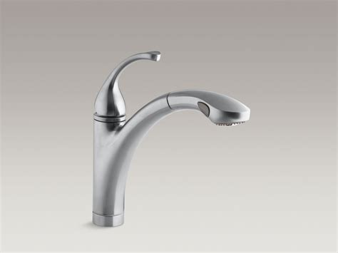 kohler forte pull out kitchen faucet standard plumbing supply product kohler k 10433 cp fort 233 single handle kitchen faucet with 10
