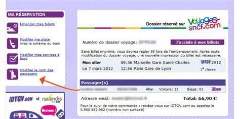 Modifier Un Billet De Idtgv revente idtgv propose le changement de nom pour 15 euros