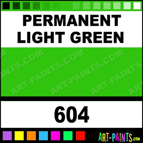 permanent light permanent light green artist acrylic paints 604