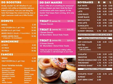 menu dunkin donuts dunkin donuts menu and prices 2017 restaurantfoodmenu