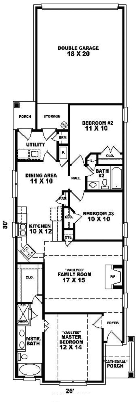 floor plans for narrow lots narrow house plans