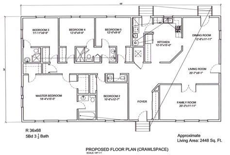 5 bedroom 3 bath floor plans ameripanel homes of south carolina ranch style homes