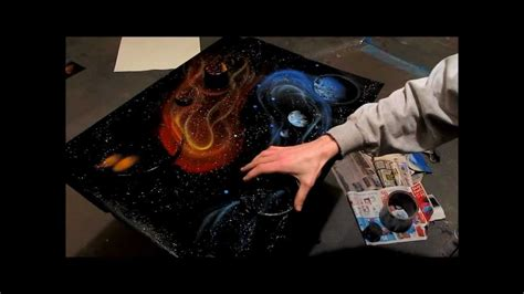 paradise spray paint by ben rabine quot yin yang galaxy quot spray paint by ben rabine