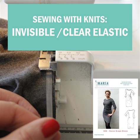 tips for sewing with knits sewing with knits invisible clear elastic in the neckline