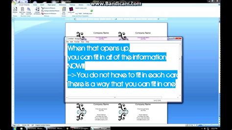 how to make business cards in word 2007 how to create business cards on microsoft word 2007