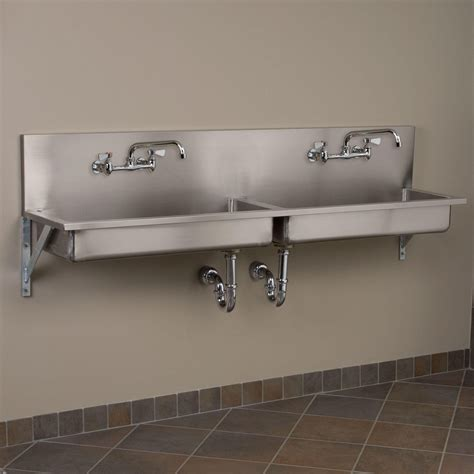 wall mount kitchen sink 72 quot bowl stainless steel wall mount commercial sink