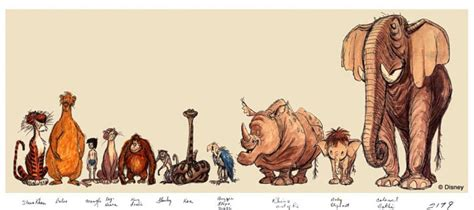 jungle book characters pictures and names jungle book s rocky the rhino concepts animated views