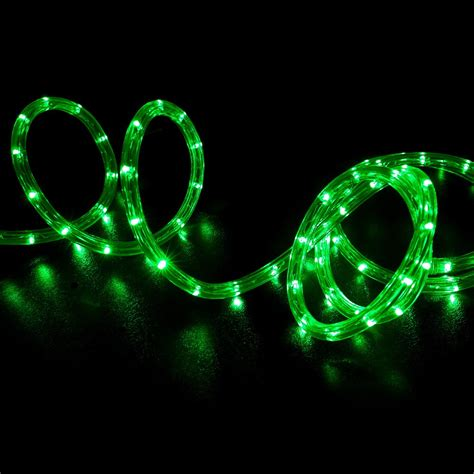 green and led lights 150 green led rope light home outdoor