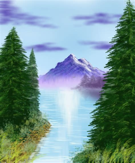 bob ross painting photoshop onceinabluemoon chartier4