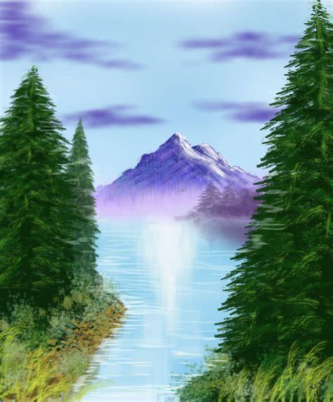 bob ross painting an evergreen tree onceinabluemoon chartier4