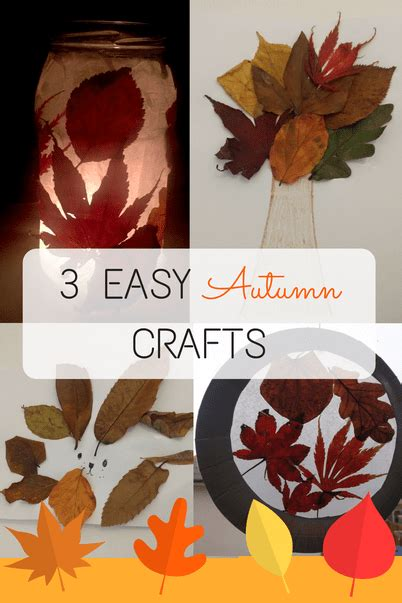 easy autumn crafts 3 easy autumn crafts to do with digital motherhood