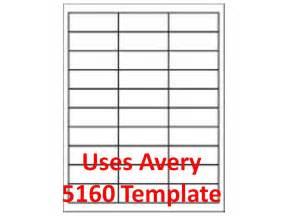 5160 template laser inkjet labels 3 000 1 quot x 2 5 8