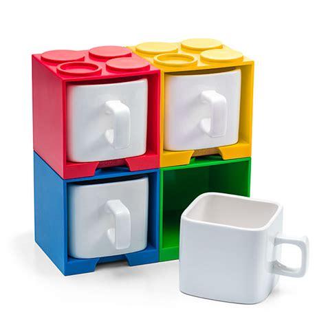 Stackable Brick Mugs   ThinkGeek