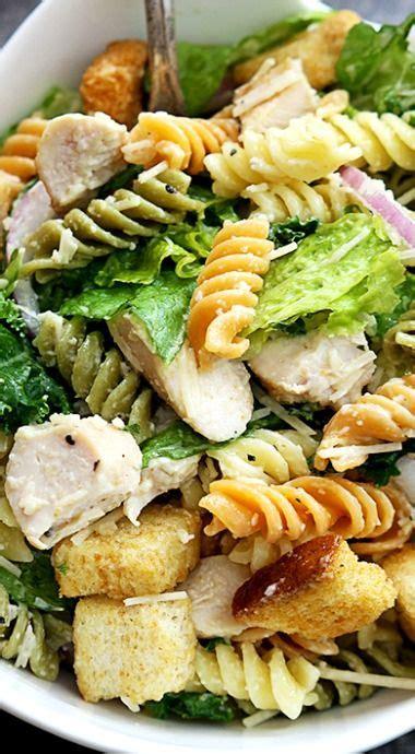 chicken caesar pasta salad recipe chicken caesar pasta salad caesar pasta salads and pasta