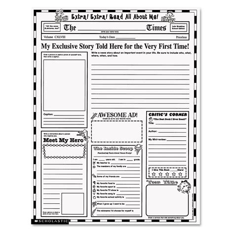 instant personal poster sets read all about me 30 big write and read learning posters ready for to personalize and display with pride instant personal poster sets by scholastic shs0439152917