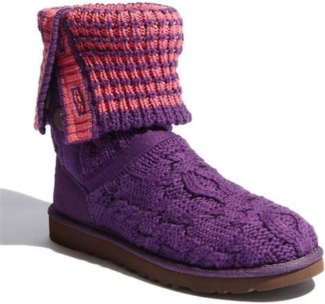 pink knitted boots pink knit uggs