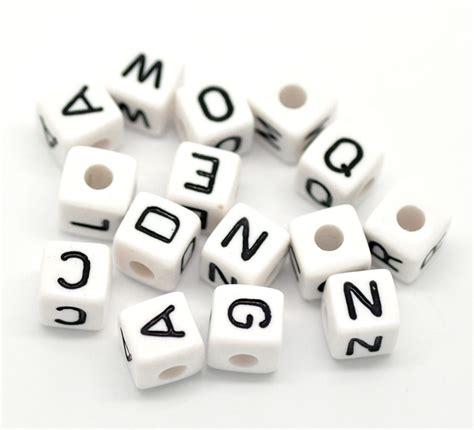 letter in bulk 500 mixed cubic acrylic letter alphabet 10x10mm ebay
